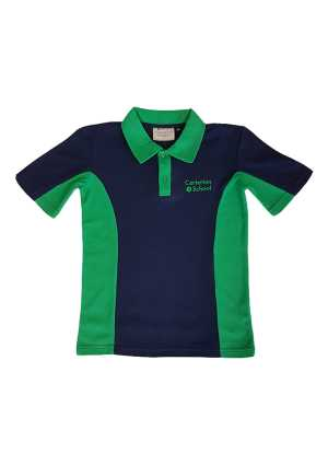 Carterton School Senior Polo Navy/Emerald