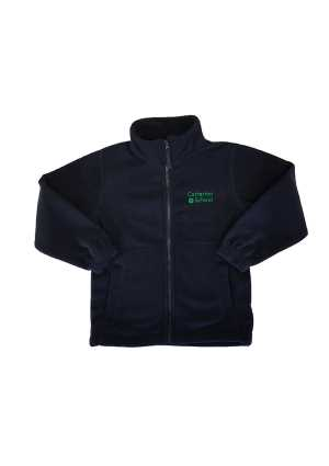 Carterton School Full Zip Polar Fleece Navy